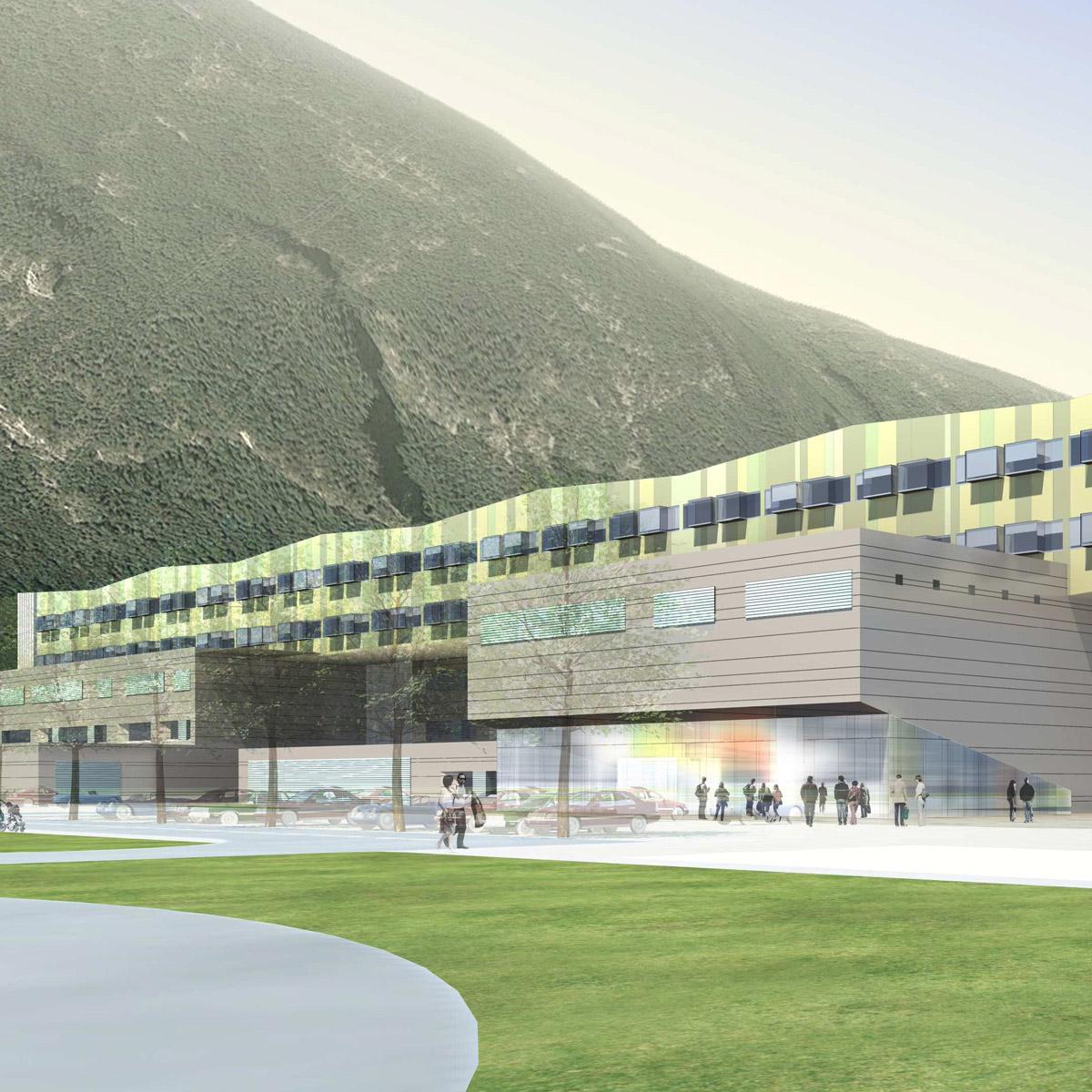 Nuovo Polo Ospedaliero del Trentino, Trento (Italia)