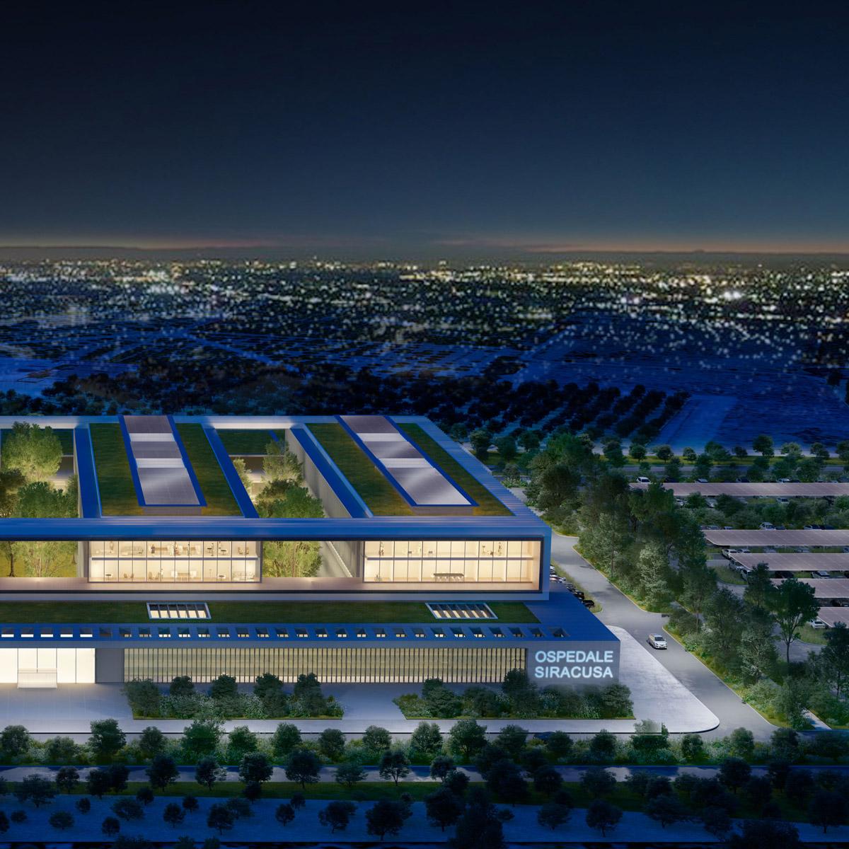 Progetto vincitore concorso di idee per l'acquisizione di una proposta ideativa per la costruzione del Nuovo Ospedale di Siracusa (Italia)